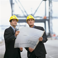Two construction executives